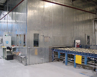 Glass Tempering Line Noise Encloure