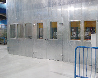 Glass Tempering Line Noise Enclosure